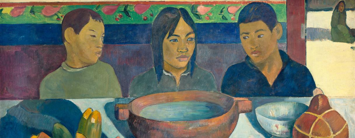 Le repas dit aussi Les bananes (en 1891), Gauguin, Paul