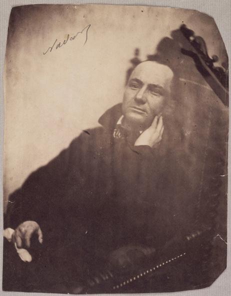 Félix Nadar-Charles Baudelaire au fauteuil