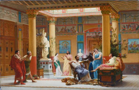 Gustave Boulanger-Répétition du Joueur de flûte et de la Femme de Diomède chez le prince Napoléon