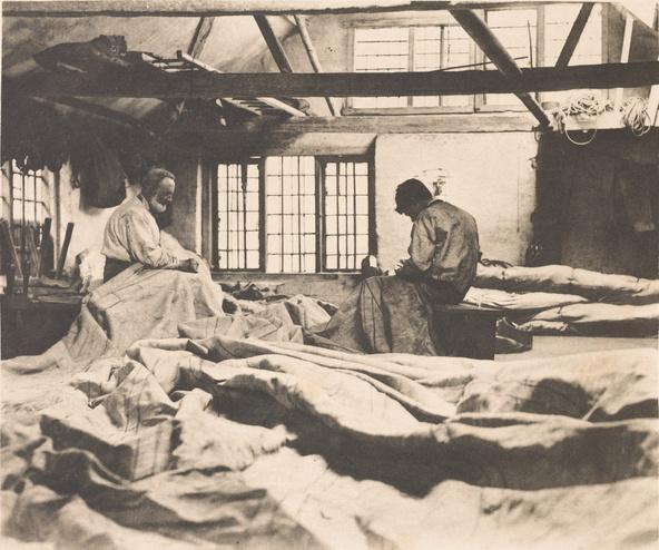 Peter Henry Emerson-Dans l'atelier de voilerie