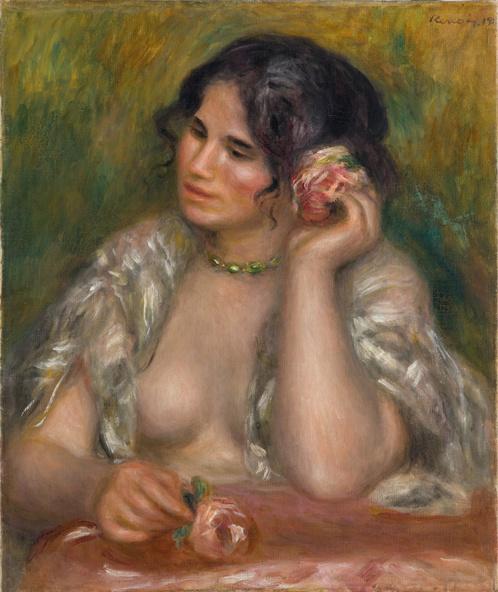 Pierre-Auguste Renoir-Gabrielle à la rose