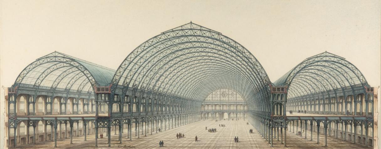 Palais de l'industrie, coupe transversale (en 1854), Berthelin, Max