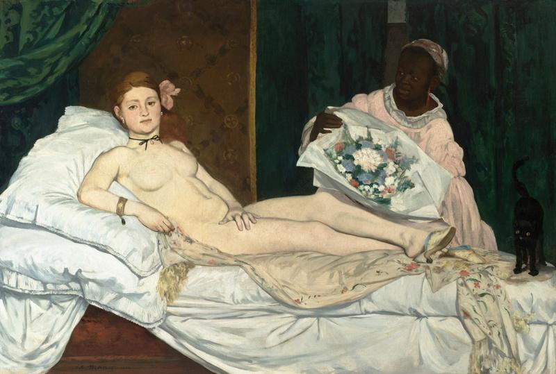 Olympia (détail), Edouard Manet, Manet, Edouard