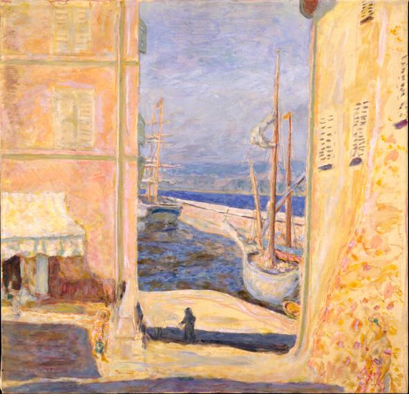 Pierre Bonnard-Vue du port de Saint-Tropez