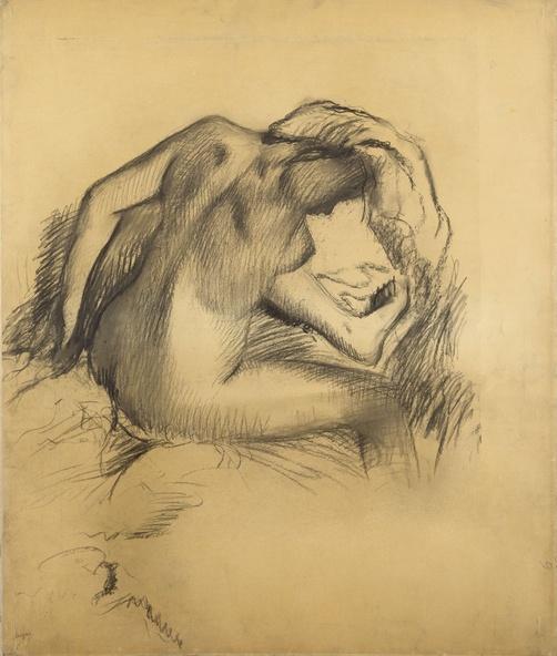 Edgar Degas-Après le bain, femme s'essuyant