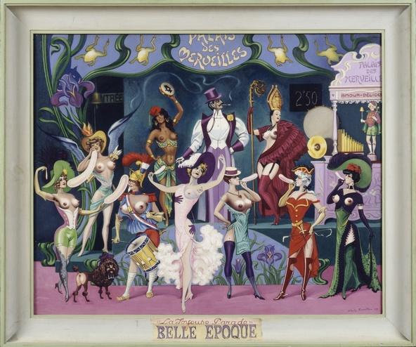Clovis Trouille-Le Palais des Merveilles, Hommage au Modern'Style