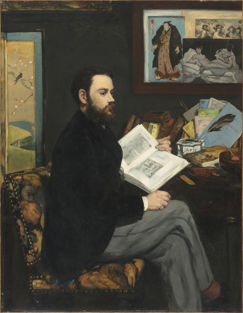 Emile Zola (détail) (en 1868), Manet, Edouard