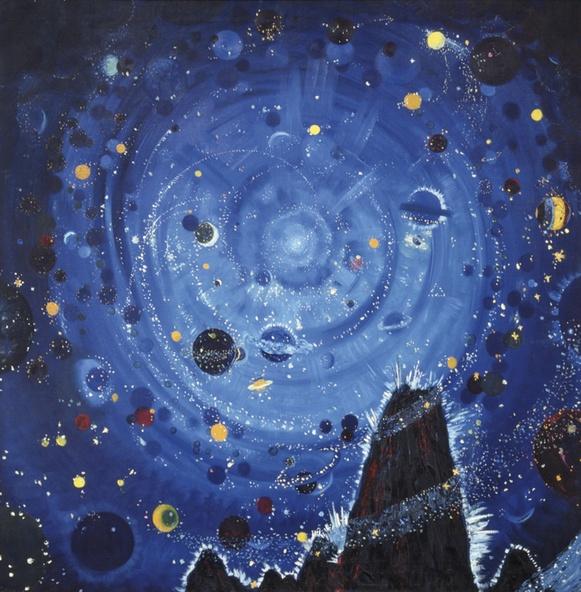 Wenzel Hablik-Nuit étoilée (Sternenhimmel Versuch)