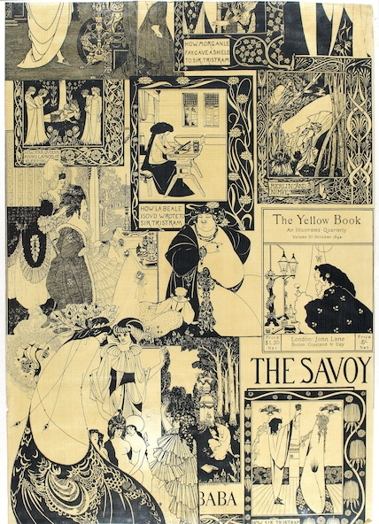 Sanderson & Co-Papiers peints Art Nouveau inspiré de Aubrey Beardsley