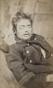 Y. Bondy-Portrait de garde national mort au combat probablement réalisé dans un hôpital parisien