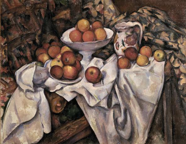 Paul Cézanne-Pommes et oranges