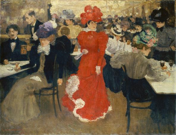 Henri Evenepoel-Au café d'Harcourt à Paris