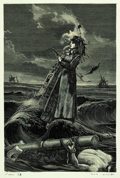 Max Ernst-Collage tiré de Une semaine de bonté. L'eau 26