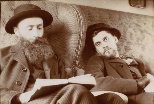 Vuillard dans le train pour l'Espagne, avec le prince Antoine Bibesco (en 1901), Bibesco, Emmanuel (prince)