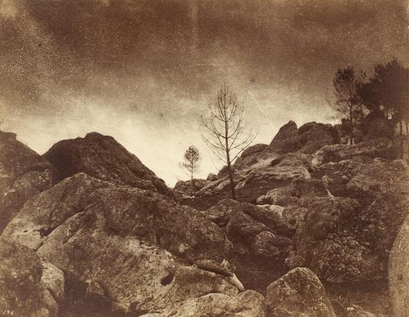 Eugène Cuvelier-L'orage (forêt de Fontainebleau)