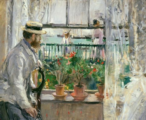 Berthe Morisot-En Angleterre (Eugène Manet à l'île de Wight)
