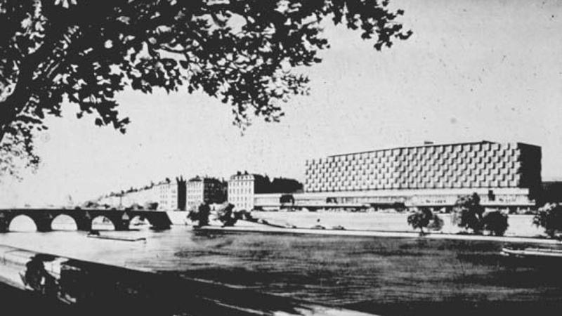 Projet Guillaume Gillet-René Coulon pour la construction d'un hôtel à l'emplacement de la gare