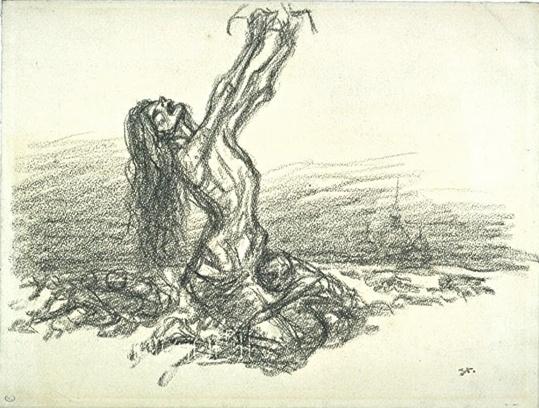 Théophile Alexandre Steinlen-La Famine