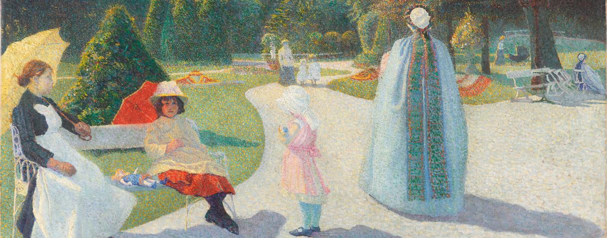 George Morren, A l'Harmonie (Jardin public), 1891  ©Musée d'Orsay, Dist.RMN-Grand Palais / Patrice Schmidt