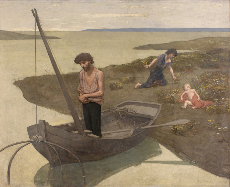 Le pauvre pêcheur (en 1881), Puvis de Chavannes, Pierre