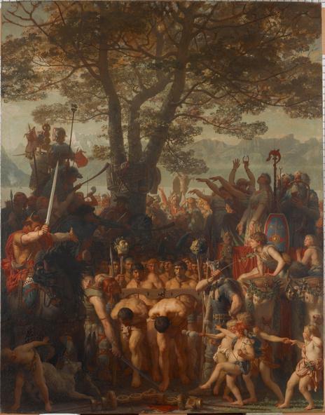 Charles Gleyre-Les Romains passant sous le joug