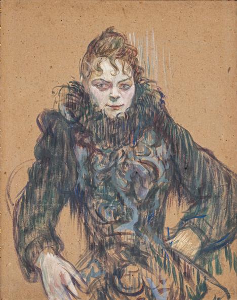 Henri de Toulouse-Lautrec-Femme au boa noir