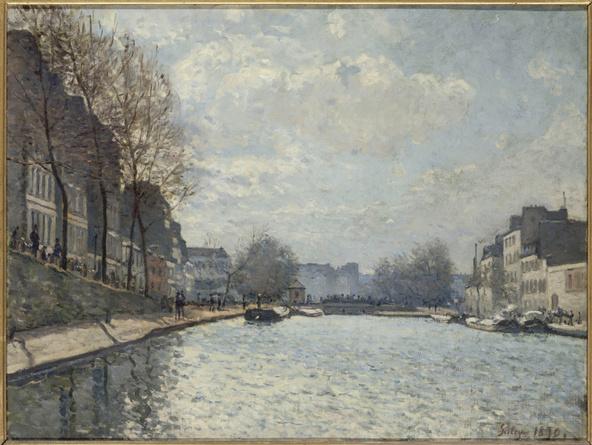 Alfred Sisley-Vue du Canal Saint-Martin