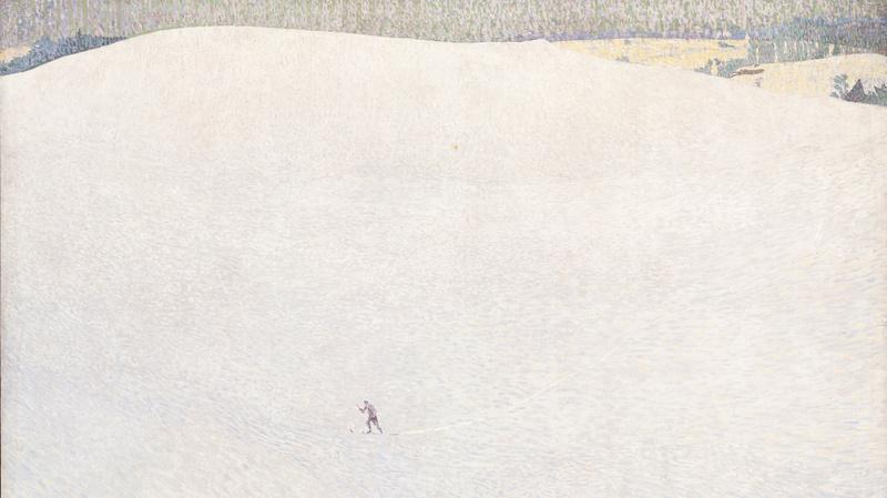 Paysage de neige, dit aussi Grand hiver (en 1904), Amiet, Cuno