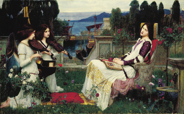 John William Waterhouse-Sainte Cécile (Saint Cecilia)