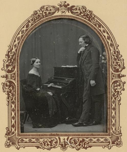 Anonyme-Robert et Clara Schumann