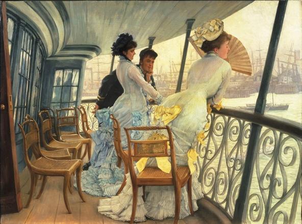 James Tissot-La galerie du HMS Calcutta (Portsmouth)