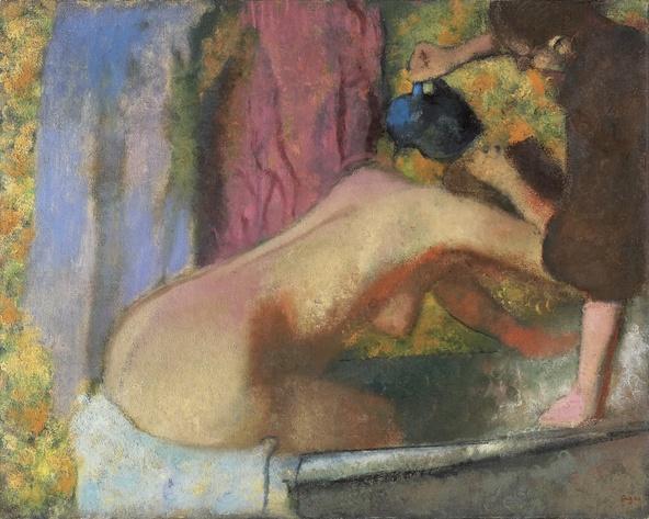 Edgar Degas-Femme au bain