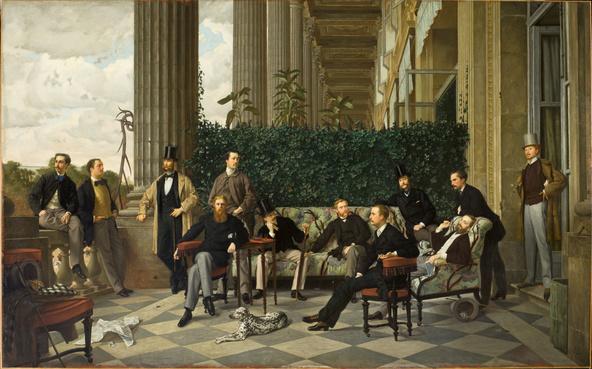 James Tissot-Le Cercle de la rue Royale