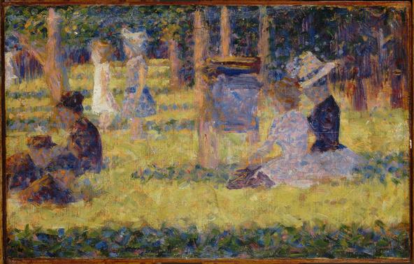 Georges Seurat-Etude pour un dimanche à la Grande Jatte