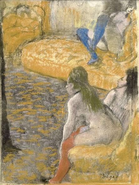 Edgar Degas-Attente d'un client
