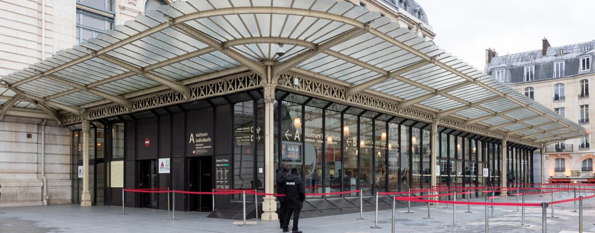 Entrée visiteurs, musée d'Orsay
