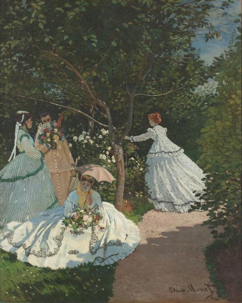 Claude Monet-Femmes au jardin