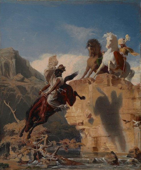 Charles Gleyre-Cavaliers turcs et arabes