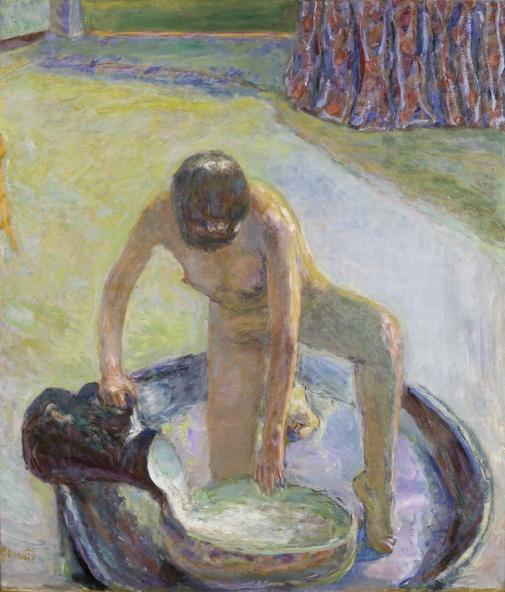Pierre Bonnard-Nu accroupi au tub