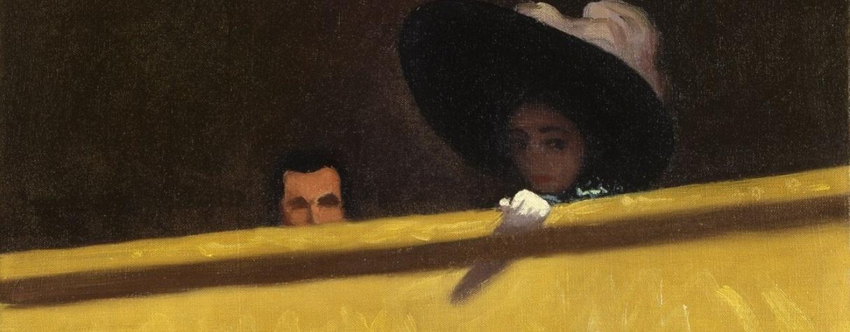 La Loge de théâtre, le monsieur et la dame, Félix Vallotton