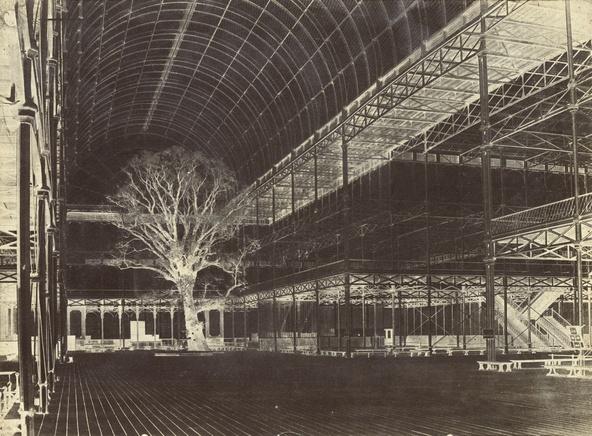Benjamin Brecknell Turner-Crystal palace, Hyde Park, 1852, Transept