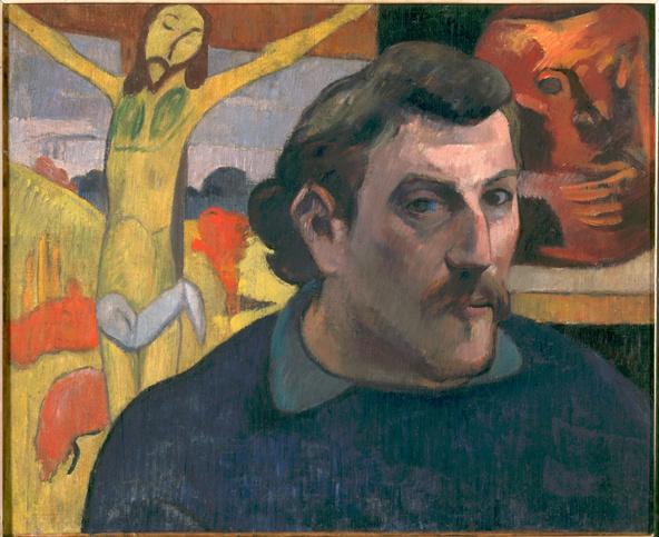 Paul Gauguin-Portrait de l'artiste au Christ jaune