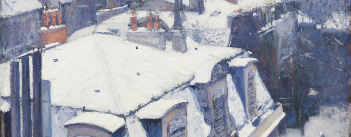 Vue de toits (Effet de neige)