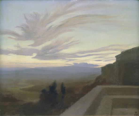 Charles Marie Dulac-La Vallée du Tibre à Assise
