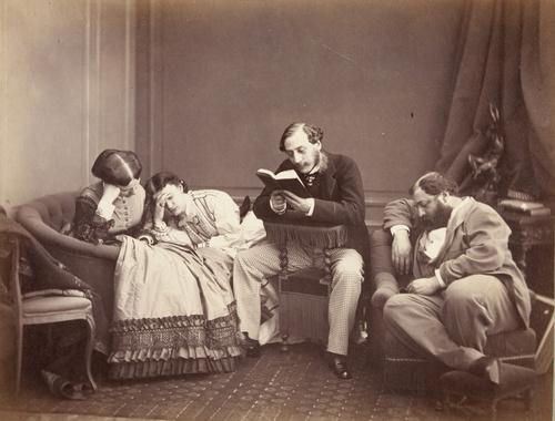 La Lecture (entre 1862 et 1864), Aguado, Olympe (comte)