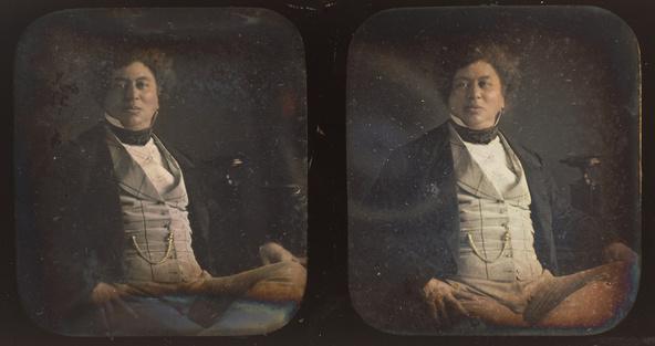 Attribué à Alexis Gouin-Portrait d'Alexandre Dumas