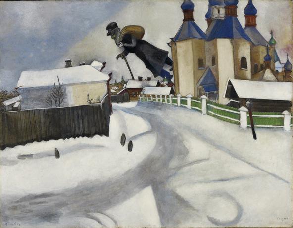 Marc Chagall-Au-dessus de Vitebsk
