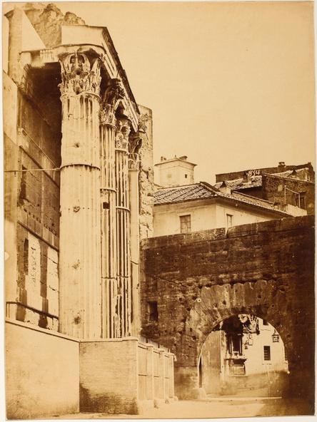 Anonyme-Rome, vue du temple de Mars Ultor, Forum de Nerva