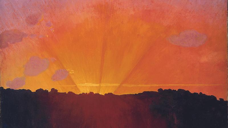 Coucher du soleil, ciel orange, Félix Vallotton (1865 - 1925)