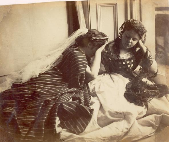 Lady Clementina Hawarden-Etude d'après nature (Isabella Grace et Florence Maude)